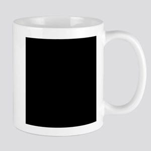 Black solid color Mugs