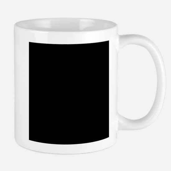 Black solid color Mugs