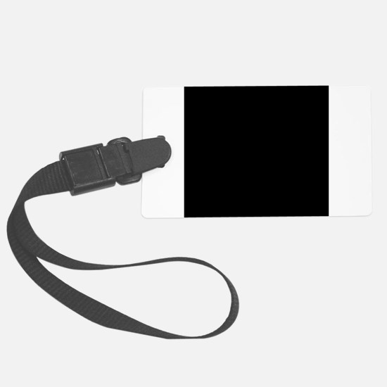 Black solid color Luggage Tag