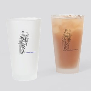 Lady Justce Drinking Glass