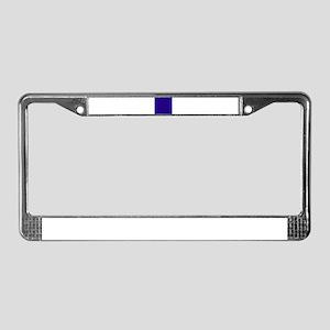 Navy Blue Solid Color License Plate Frame
