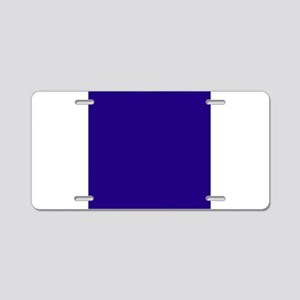 Navy Blue Solid Color Aluminum License Plate