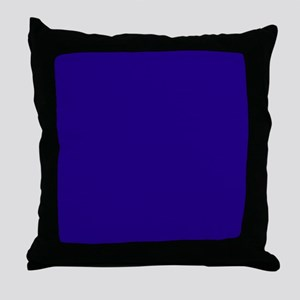 Navy Blue Solid Color Throw Pillow