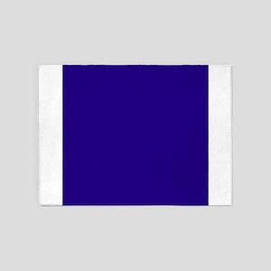 Navy Blue Solid Color 5'x7'Area Rug