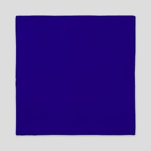 Navy Blue Solid Color Queen Duvet
