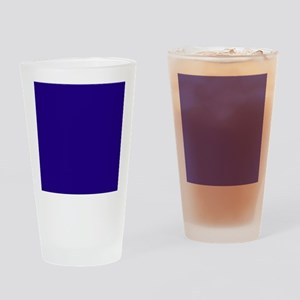 Navy Blue Solid Color Drinking Glass