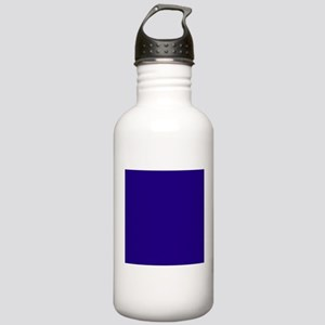 Navy Blue Solid Color Sports Water Bottle