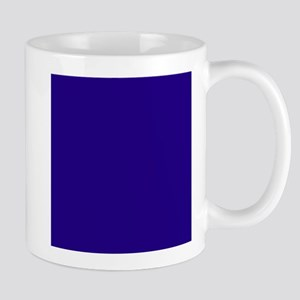 Navy Blue Solid Color Mugs