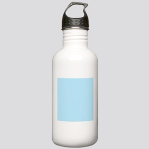 Baby Blue Solid Color Sports Water Bottle