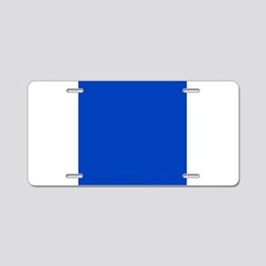 Dark Blue Solid Color Aluminum License Plate