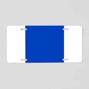 Dark Blue Solid Color Aluminum License Plate