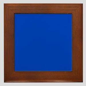 Dark Blue Solid Color Framed Tile