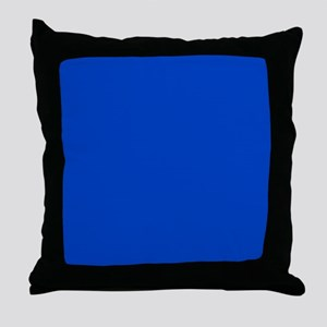 Dark Blue Solid Color Throw Pillow
