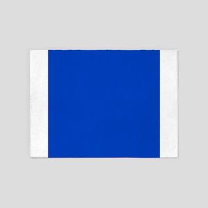 Dark Blue Solid Color 5'x7'Area Rug
