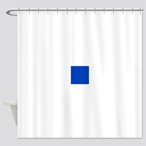 Dark Blue Solid Color Shower Curtain