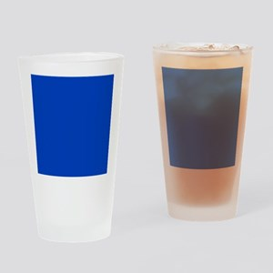 Dark Blue Solid Color Drinking Glass
