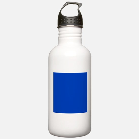 Dark Blue Solid Color Sports Water Bottle
