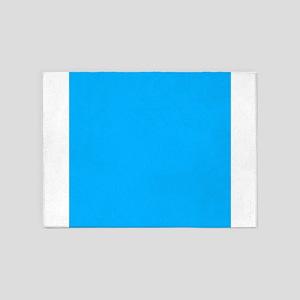 Sky Blue Solid Color 5'x7'Area Rug