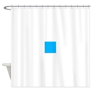Solid Blue Shower Curtains
