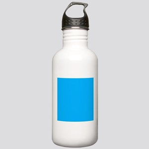 Sky Blue Solid Color Sports Water Bottle