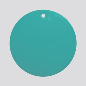 Turquoise Solid Color Ornament (Round)