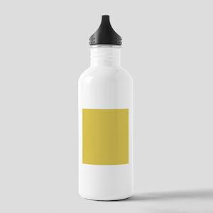 Matte Gold Solid Color Sports Water Bottle