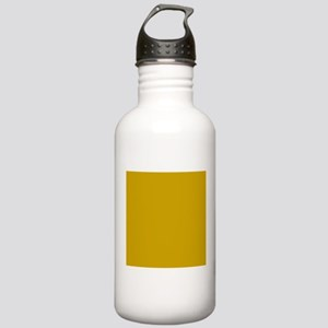 Tan Solid Color Sports Water Bottle
