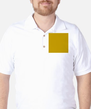 Tan Solid Color Golf Shirt