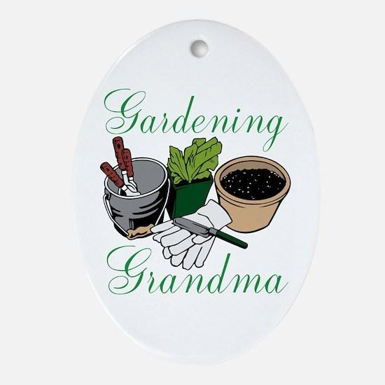 Gardening Grandma Ornament (Oval)