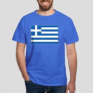 Greece Flag Dark T-Shirt