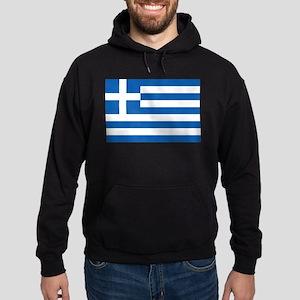 Greece Flag Hoodie (dark)