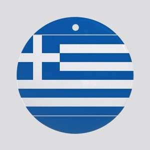 Greece Flag Ornament (Round)