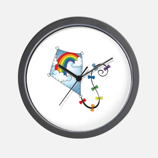 Rainbow Kite Wall Clock