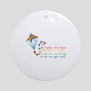 Rainbow Shines Ornament (Round)