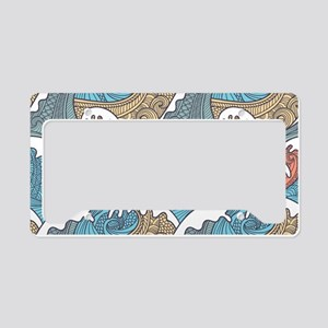 Colorful Waves License Plate Holder