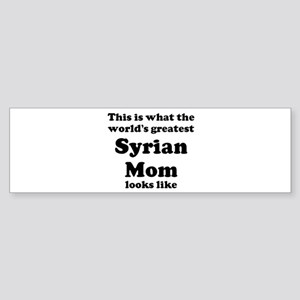 Syrian mom Bumper Sticker