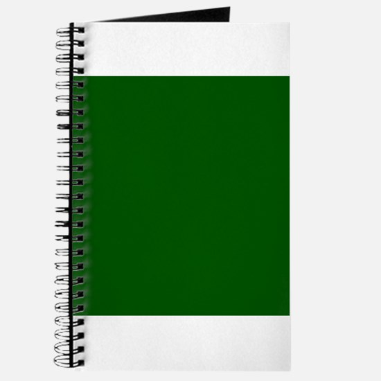 Dark green solid color Journal