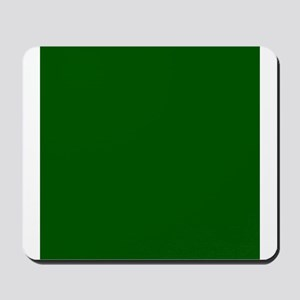 Dark green solid color Mousepad