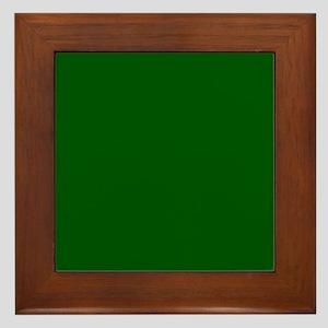 Dark green solid color Framed Tile
