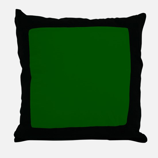 Dark green solid color Throw Pillow