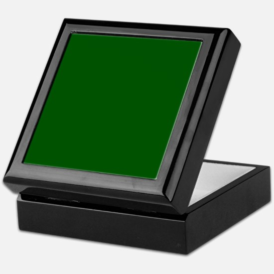 Dark green solid color Keepsake Box