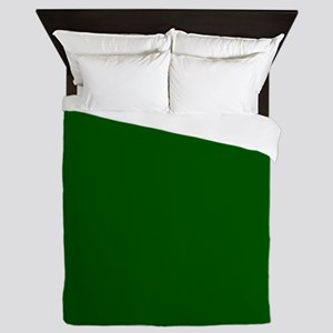 Dark green solid color Queen Duvet