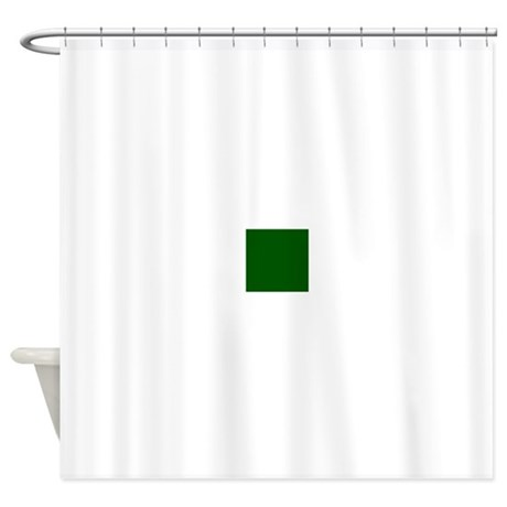Dark Green Solid Color Shower Curtain