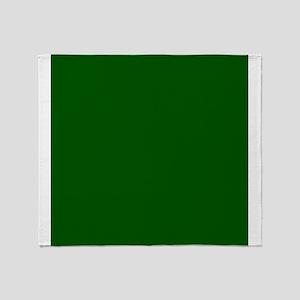Dark green solid color Throw Blanket