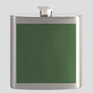 Dark green solid color Flask