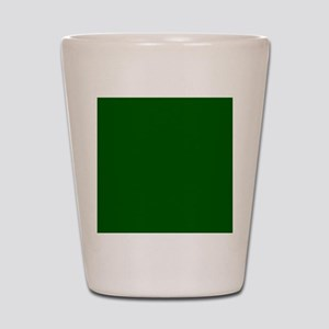Dark green solid color Shot Glass