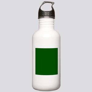 Dark green solid color Sports Water Bottle