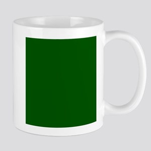 Dark green solid color Mugs