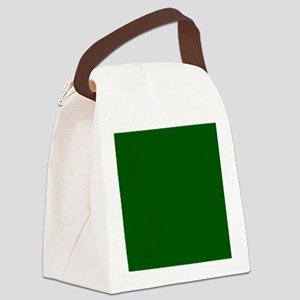 Dark green solid color Canvas Lunch Bag
