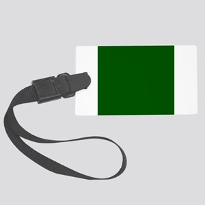 Dark green solid color Large Luggage Tag